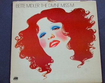 """Bette Midler - die göttliche Miss M - """"Boogie Woogie Bugle Boy"""" - """"Möchten Sie tanzen"""" - Atlantik 1972 - Jahrgang Vinyl LP Schallplatte"""