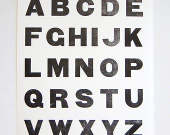 Type Specimen Sheets (1) Large Letterpress Print