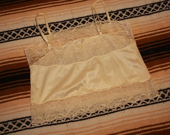 Vintage Lily of France  lace and nylon top