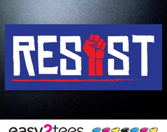 RESIST, Stickers, Anti Trump, UNITED, Women, Triumpth, Political, Rise, Resistance, Women March, Muslim Ban, Science March, Stand, Fight