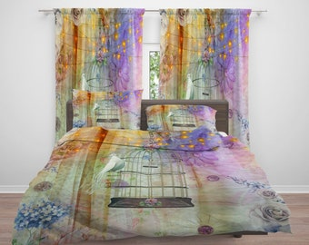 Boho Gypsy Lights Comforter or  Duvet Cover,Twin  Full Queen King, , Rug, Curtains, Throw Pillow