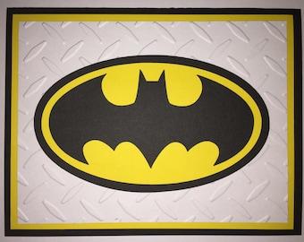 Handmade Batman Birthday Card, Super Hero, Batman, Bat