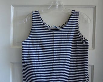 Vintage 60s NAVY STRIPED Nautical Tank Top sz S/M