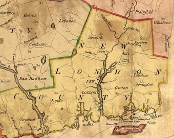 Connecticut 1766 Map - by Park  Reprint