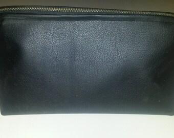 Black Vinyl Makeup Bag
