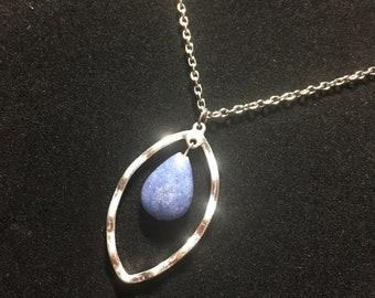 Blue Gemstone Silver Necklace
