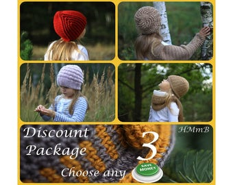 Discount Pattern Package - Choose Any 3 Patterns