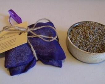 Lavender Sachet Bundle in Purple Organza 2 Sachets