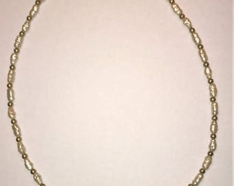 """Napier faux Pearl & Pink Crystal Necklace 15 1/2"""""""