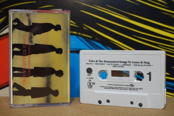 Songs To Learn & Sing by Echo and The Bunnymen Vintage Cassette Tape