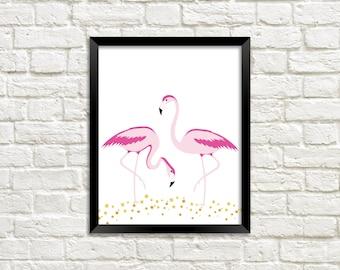 Flamingo Print, Flamingo Digital Download, Flamingo Printable, Flamingo Wall Art, Flamingo Digital Print, Flamingo Nursery Decor, Flamingos