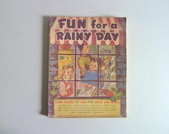Vintage Childrens Rainy Day Activity Book