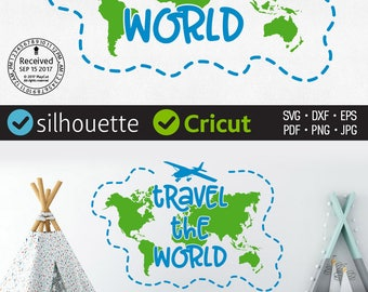World map silhouette etsy travel the world svg explore svg adventure svg earth map continents round tour svg gumiabroncs Gallery
