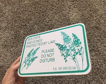 Sea Oats sign - Photo on Wood