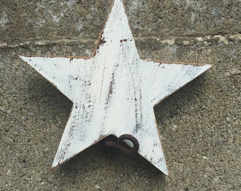 Handmade and hand painted wooden stars