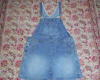 Bib Overalls Gap Hippie Shorts Overalls Vintage 1990s 90s Denim Jeans Cotton Boho Summer Bibs Short-alls Overall Women Adult M