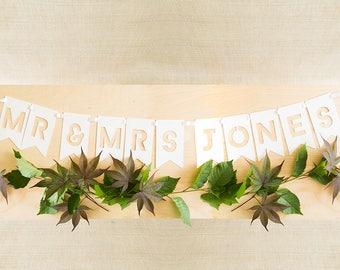 Name Wedding Sign, Custom Wedding Signs, Mr and Mrs Sign, Wedding Signage, Wedding Banner, Mr and Mrs Banner, Wedding Photo Prop