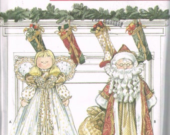 Craft Sewing Pattern - Angel Or Santa Claus Vacuum Cleaner Cover Pattern - Christmas Decor Pattern - Faith Van Zanten - Simplicity 8920