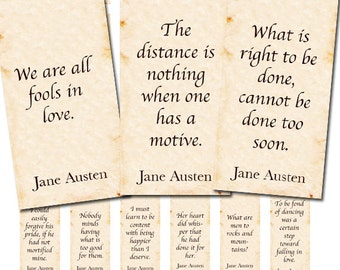 Jane Austen quotations, 1x2 inch domino tile collage sheet no.  999