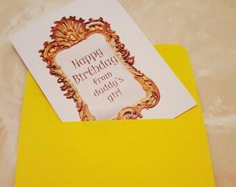 From Daddy's Girl Birthday Card