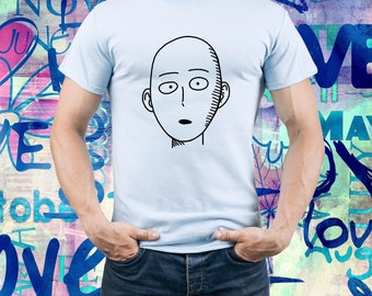 One Punch Man shirt/ Saitama tshirt/ Anime tee/ Japanese anime/ Mens t shirt/ Men tee/ One-Punch Man/ Superhero/ Bald/ Saitama shirt/ (B170)