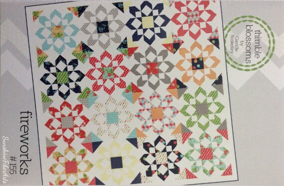 Fireworks Quilt Pattern Camille Roskelley Thimble Blossoms