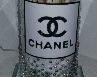 Chanel inspired vase or candle holder