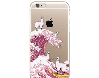 Llama Phone iPhone 8 Case Wawes Case 7 Plus iPhone Phone 6 iPhone TPU Soft iPhone Phone 6 Plus Llama Case iPhone 6S Plus Funny Llama Case