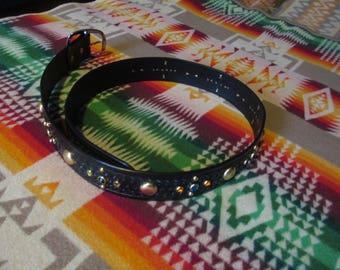 Rockabilly southwestern studded belt