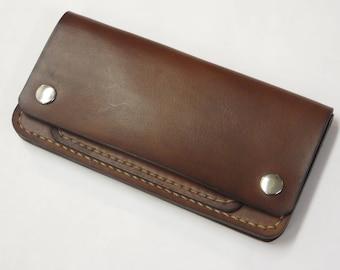 Trucker Wallet, Biker Wallet, Full Grain Leather Wallet, Mens Leather Wallet