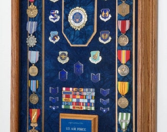 Military Medals Display Case Shadow Box