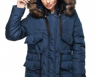 Blue Coat parka with Arctic Fox on the hood