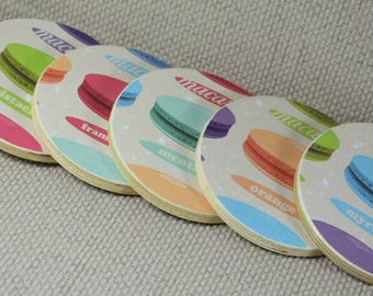 Colourful Macaroon Coasters, ideal Gift for Macaroon lovers! Incs Free Gift Wrapping!