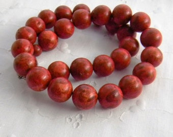 Chunky Red ,Sponge Coral Necklace, Red Necklace, Fashion Jewelry, Womens Fashion