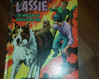 Lassie the Mystery of the Bristlecone Pine 1967 Whitman Hardcover  Good Condition