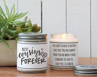 Best Cousins Forever Candle | Cousin Gift | Cousin Candle | Gift for Cousin | Best Cousin Gift | Personal Cousin Gift | Best Cousins Forever