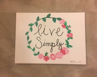 live simply flower canvas