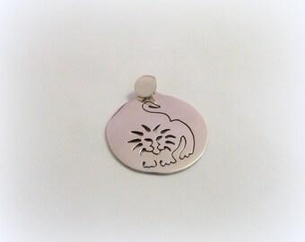 Silver Lion pendant