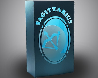 Sagittarius Zodiac box card with envelope template