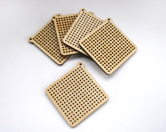 Cross stitch blank wooden embroidery blanks perforated plywood laser cut wood stitches for embroidery stitching wooden blanks embroidery