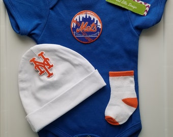 New York Mets baby outfit/ny mets baby gift/ new york mets baby shower gift/baby ny mets/ny mets take home outfit/new york mets baby