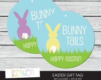 Bunny gift tag printable easter tag printable gift tag easter gift tag printable easter tag bunny tails easter basket tag printable gift negle Image collections