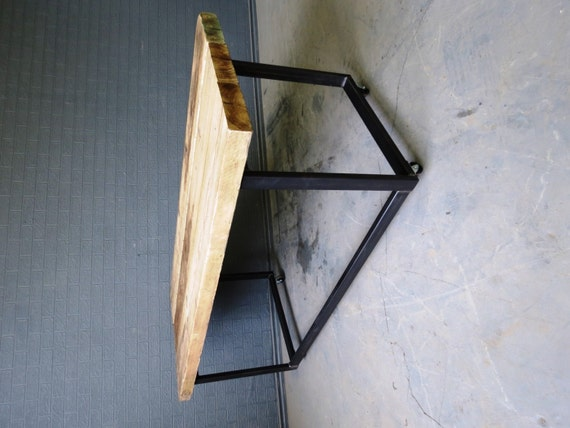 Industrial Chic Reclaimed Custom Office Desk Table On Wheels