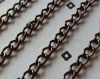 5 FT. Gunmetal chain 5x7mm