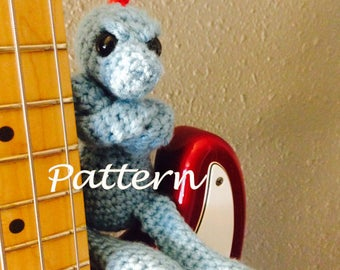 The Disapproving Dinosaur crochet PATTERN