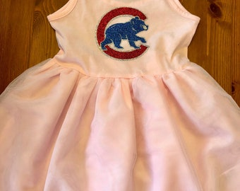 Chicago Cubs or your team Tutu Toddler Dress - limited availability