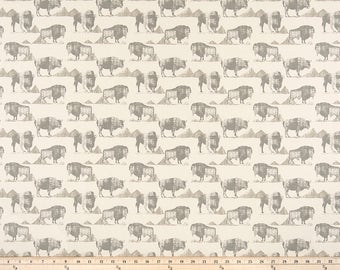 "Buffalo Trail Lead Macon Fabric by the yard Premier Prints  Fabric Yardage Home Decorator Fabric 54"" Wide Upholstery Fabric"