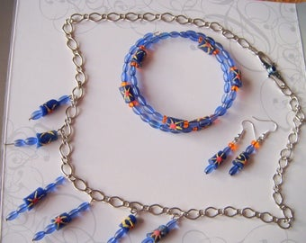 Finery ethnic blue/orange/yellow PA1205