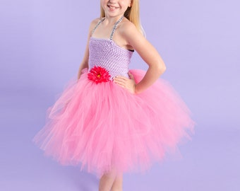 Flower girl dress - tutu dress - tulle dress - Pink and Purple Tutu Dress - Girls/Youth Dress - Pageant dress - Princess dress
