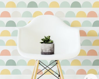 Pastel Color Clouds Removable Wallpaper / Traditional or Self adhesive Wallpaper L032-1